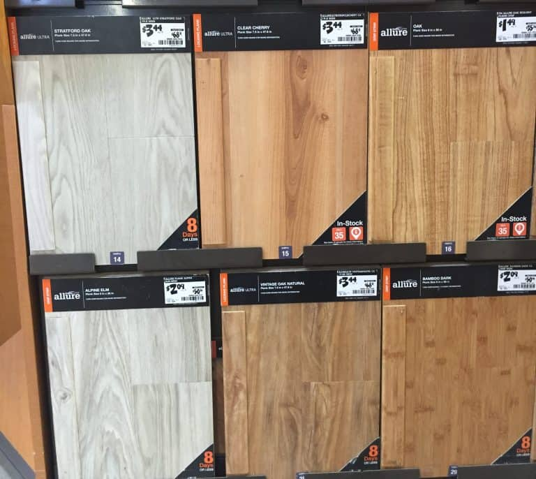 Allure plank flooring from Home Depot