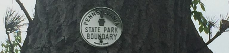 PA State Park boundary medal