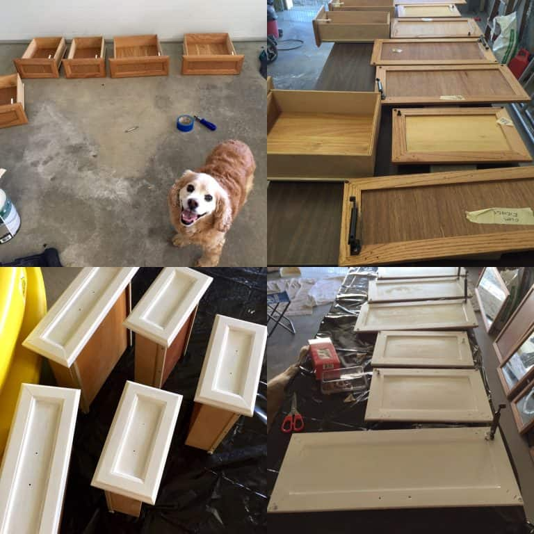 rv cabinet doors and drawers before and after