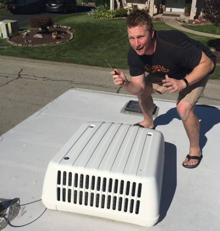rv air conditioner shroud installation