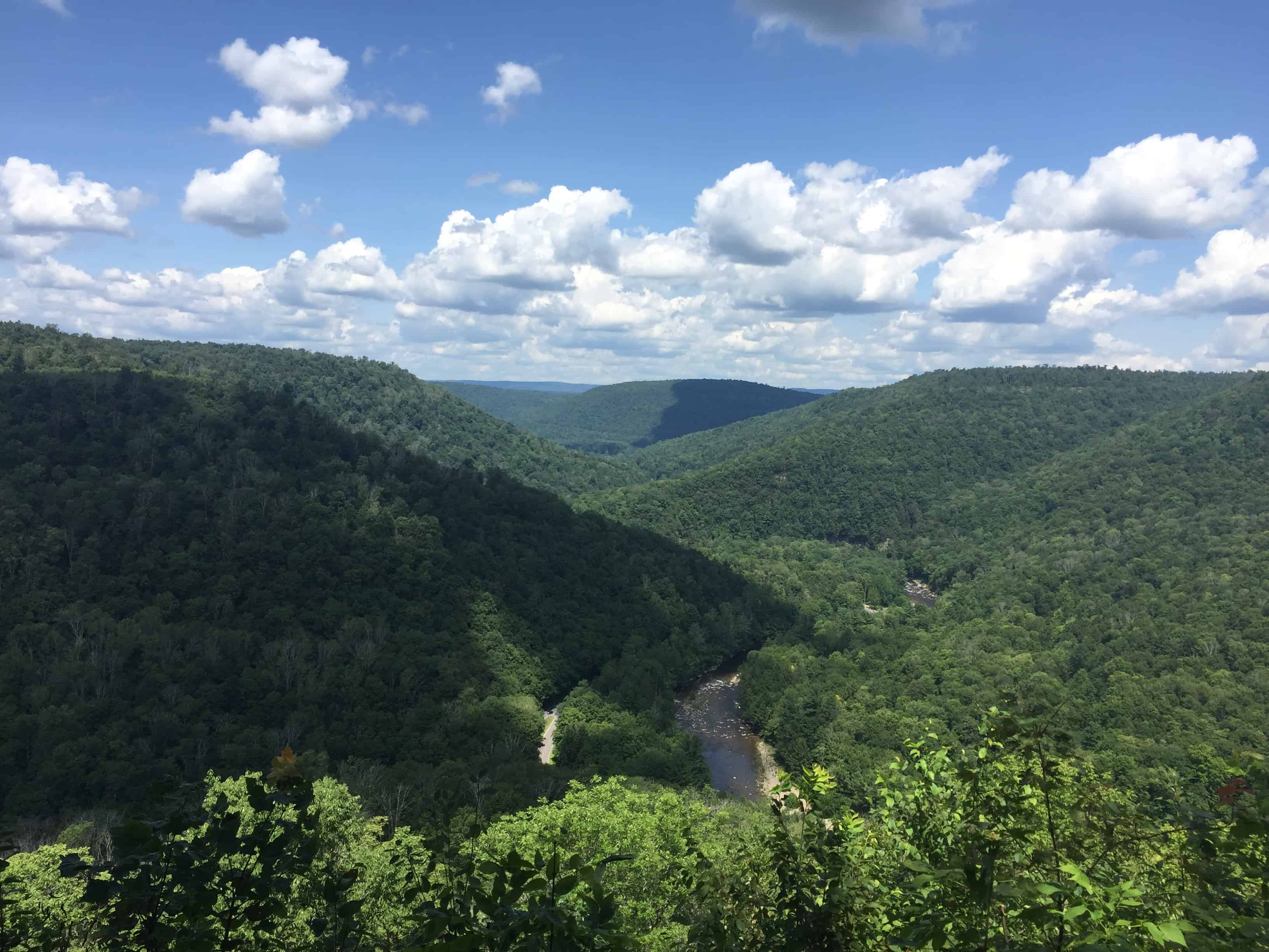 worlds end state park pennsylvania landscape