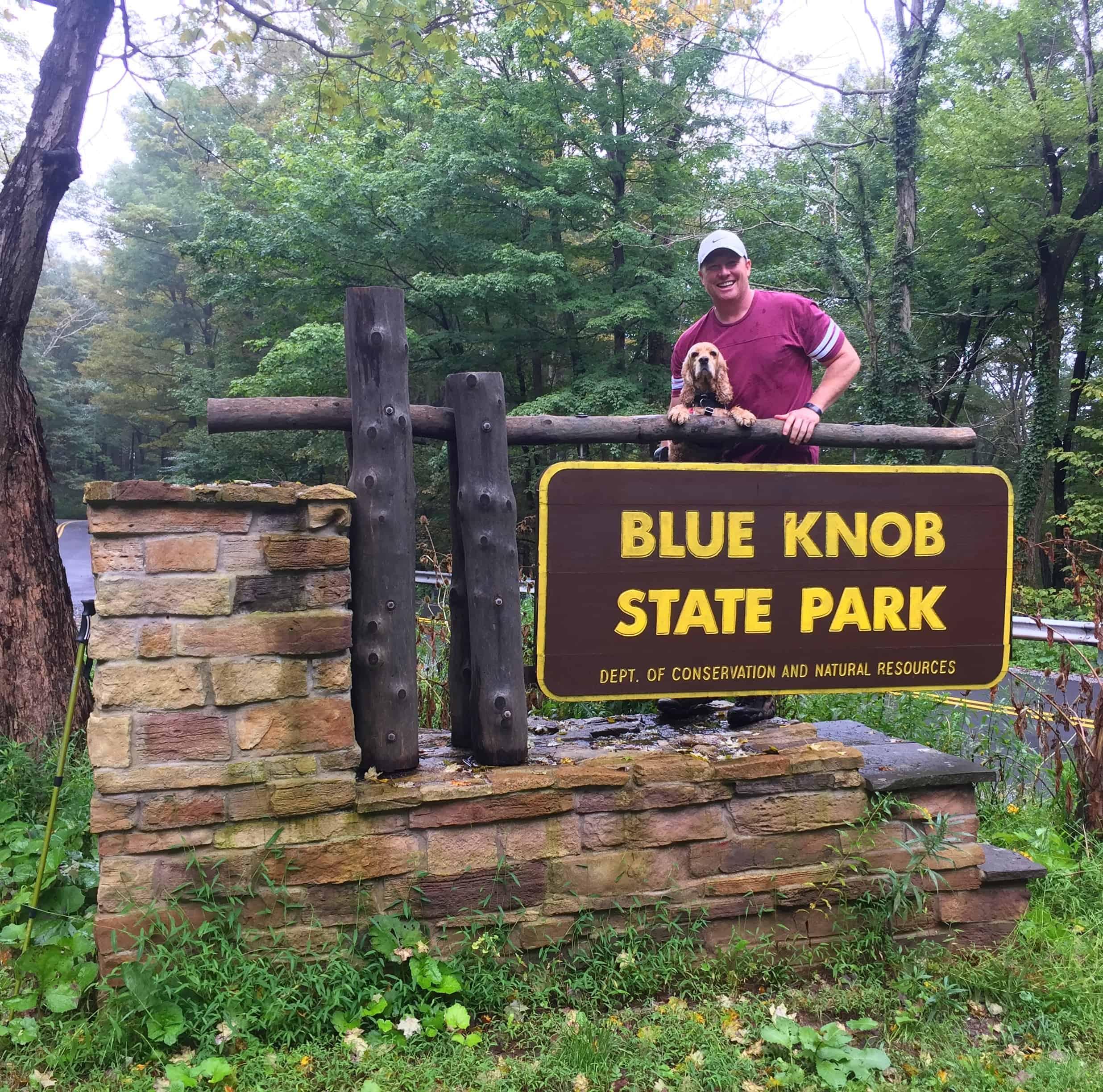 blue knob state park sign