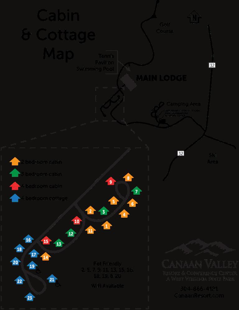 canaan valley resort map
