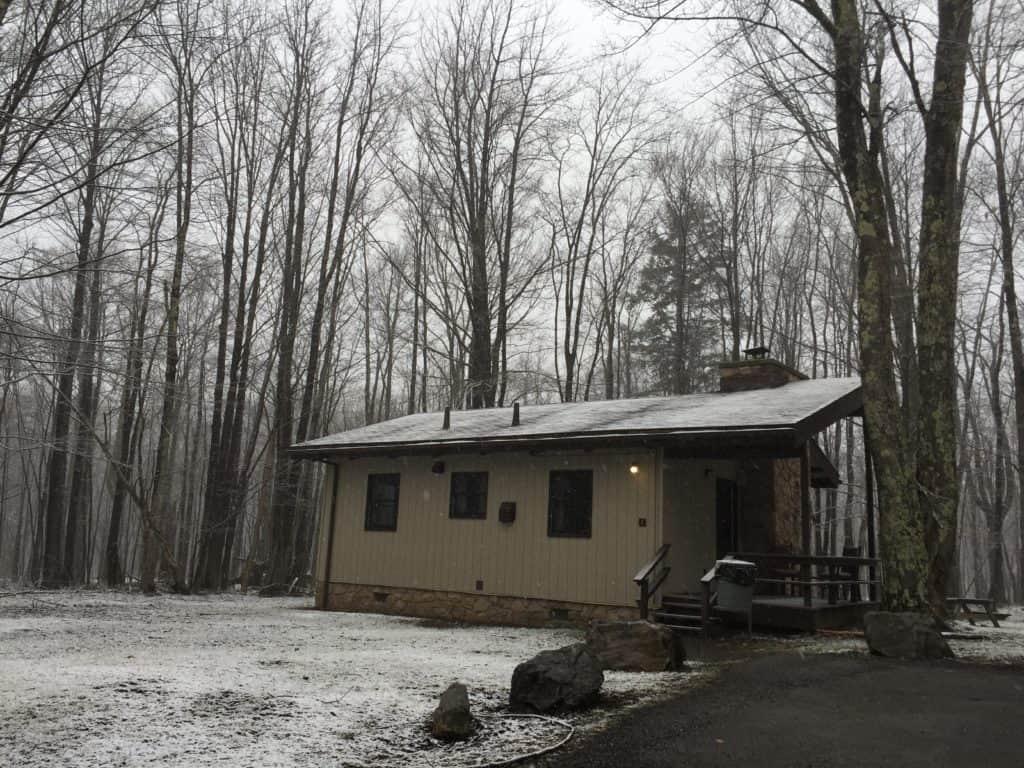 canaan valley cabin snow
