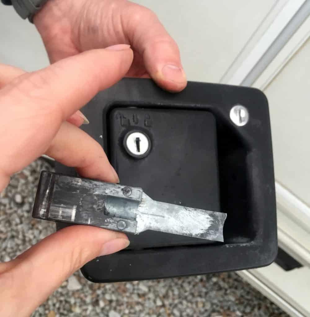 busted rv door lock set