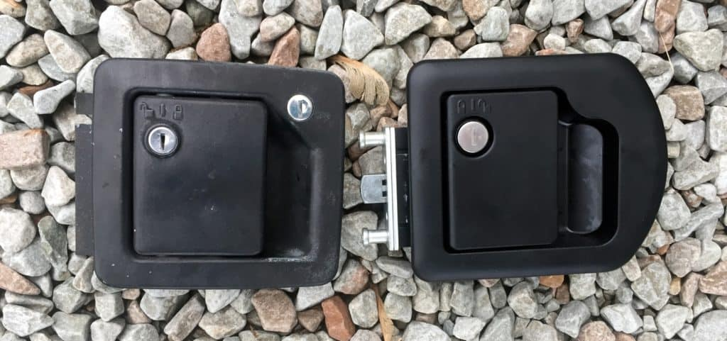 old vs new rv door lock set front