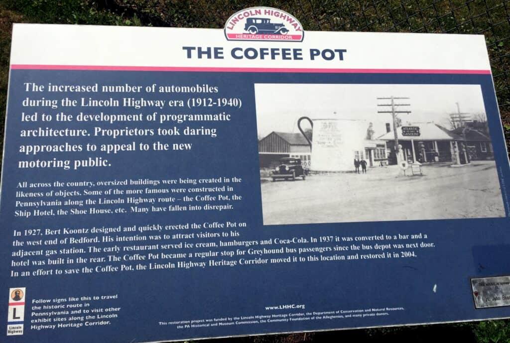 bedford coffeepot description