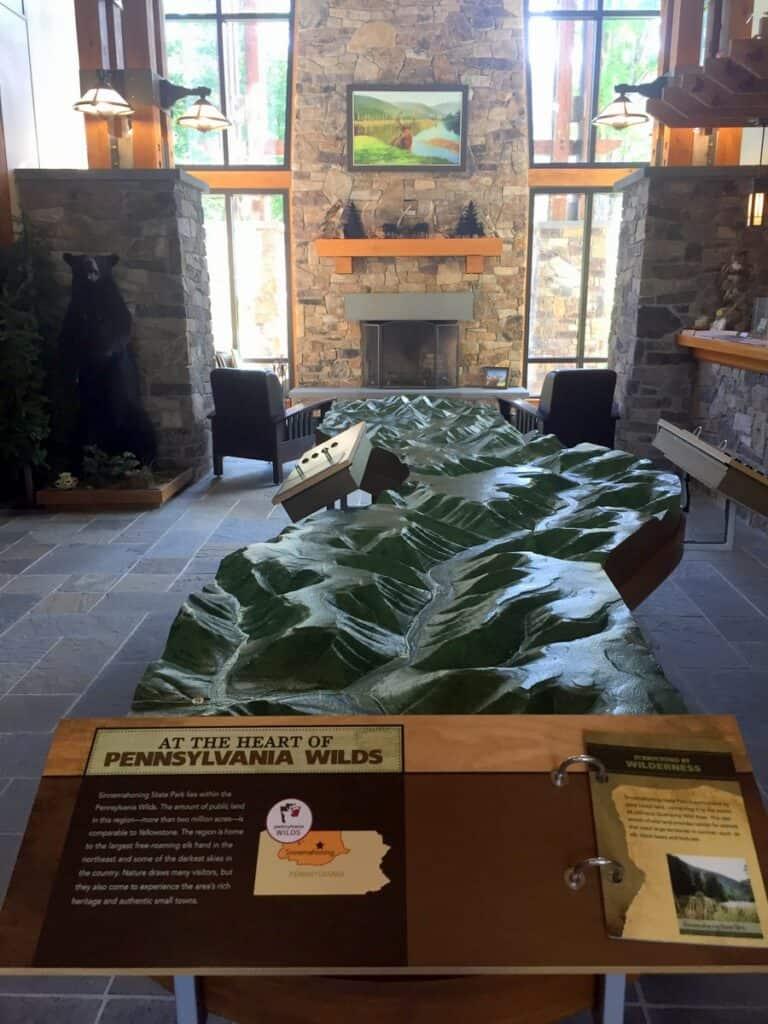 sinnemahoning state park wildlife center displays