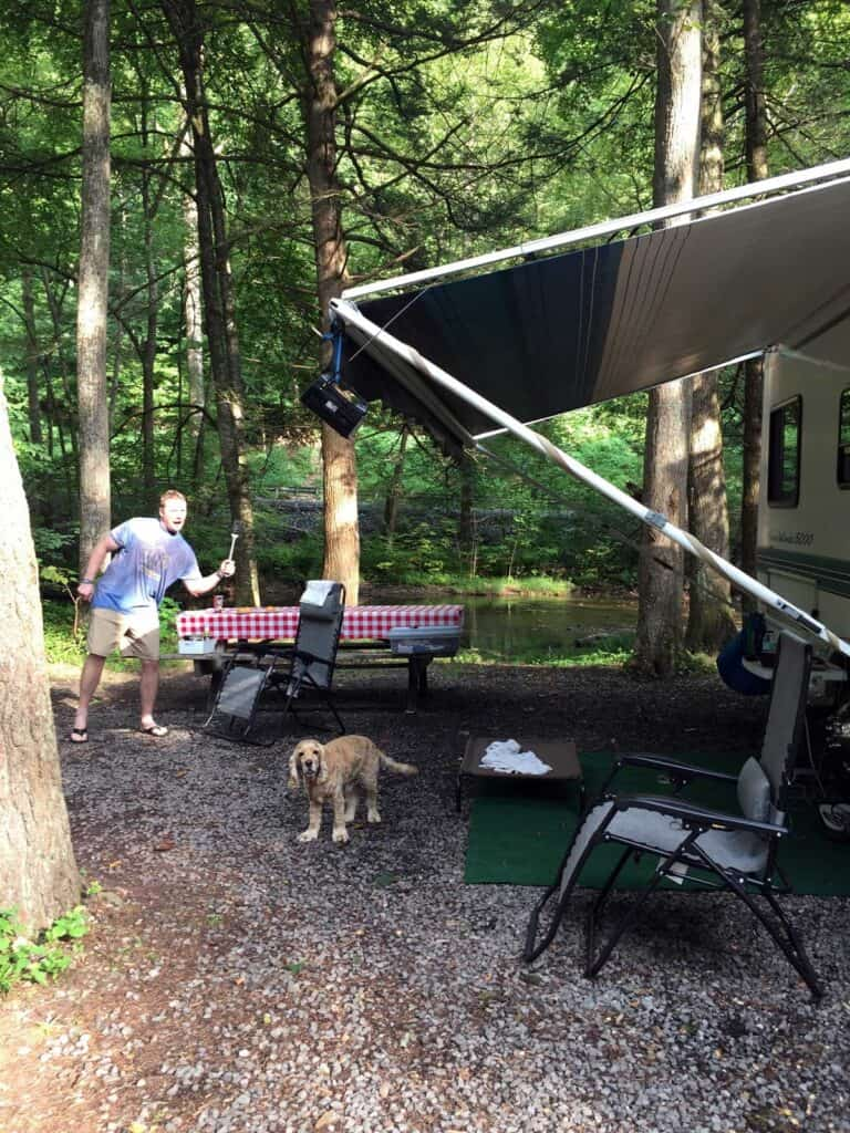 rv campground cooking