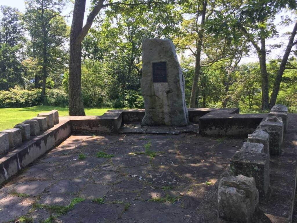 pa fire wardens memorial stone garden