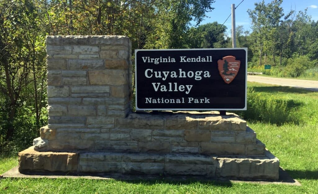 Cuyahoga Valley National Park sign
