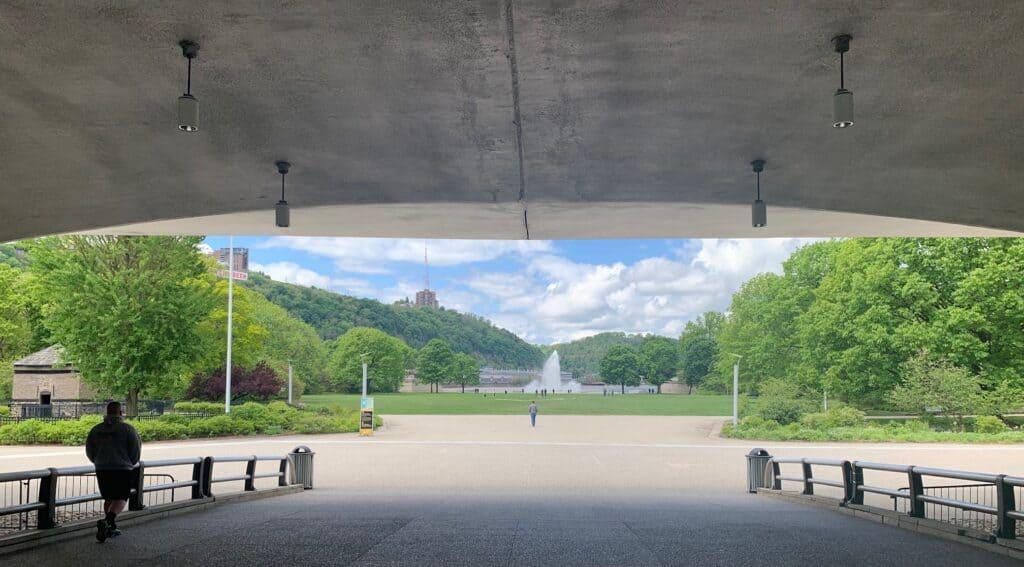 point state park portal bridge view