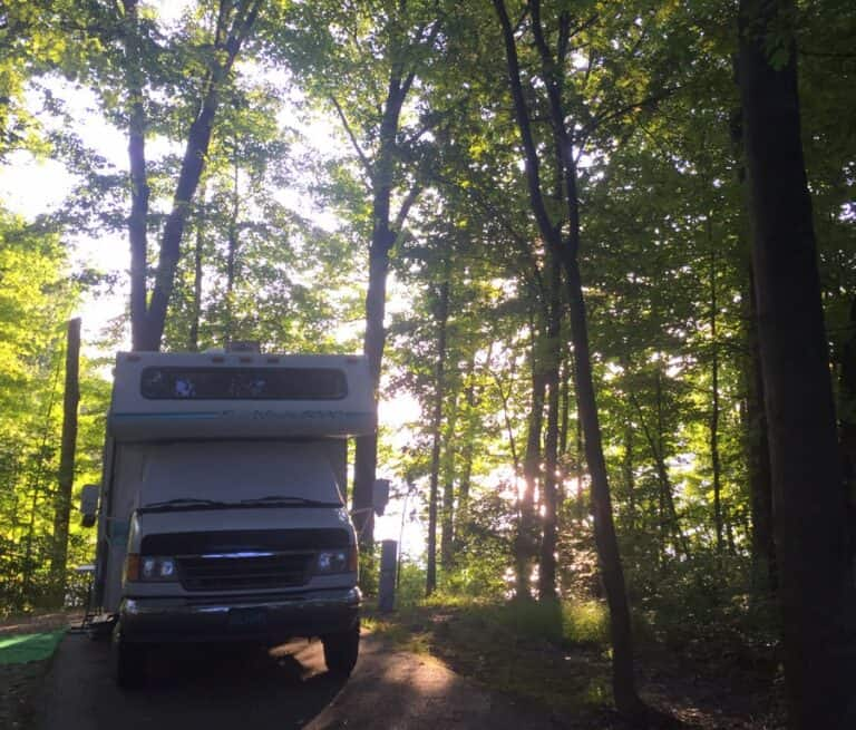 west branch state park campground scenic site