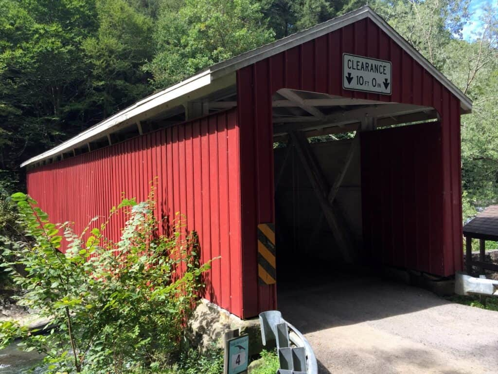 covered bridge at mcconnells mill state park