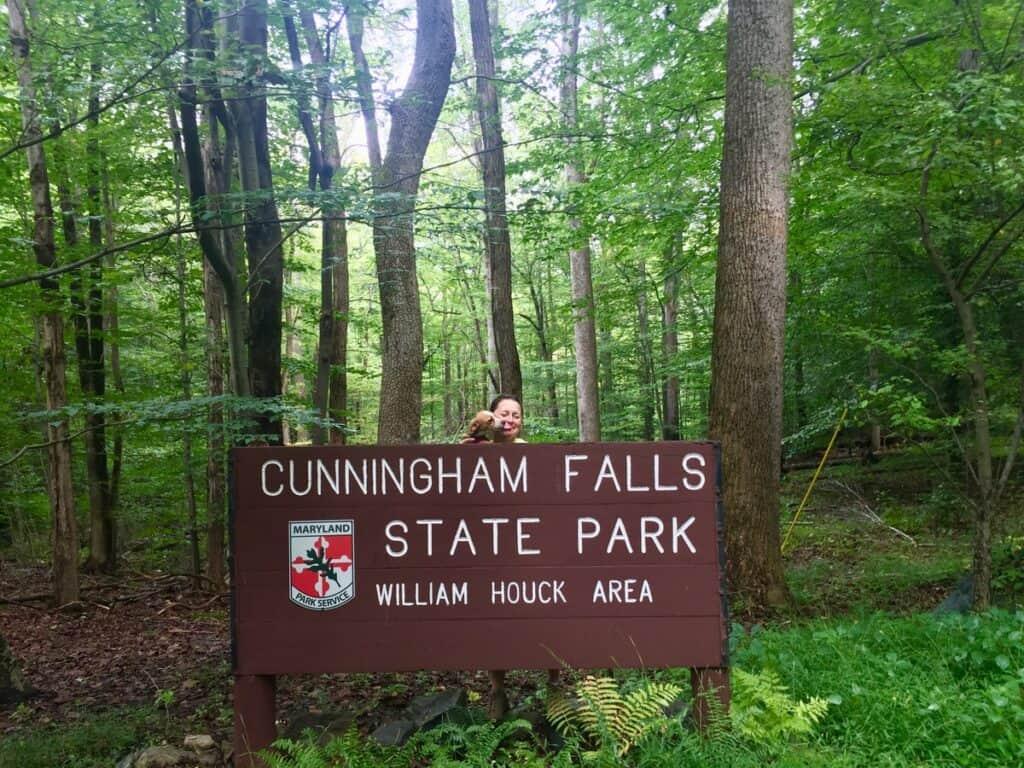 cunningham falls state park sign