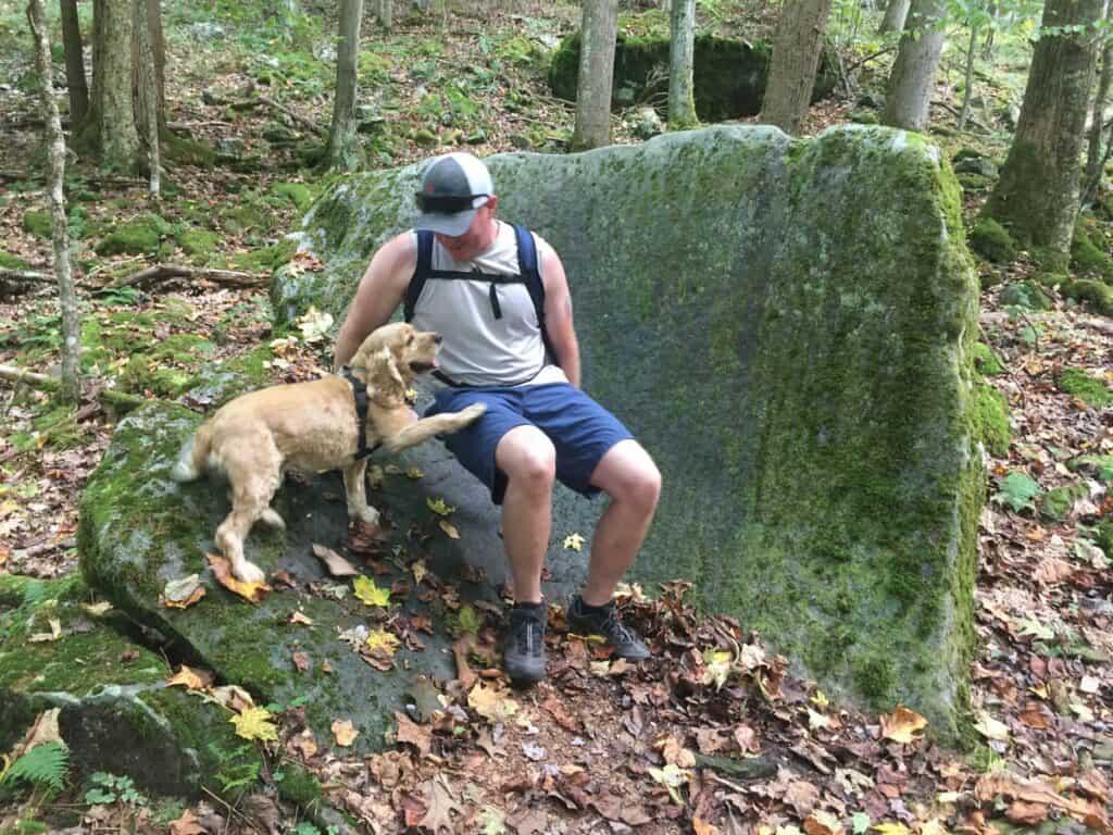 natures rock garden trail seat