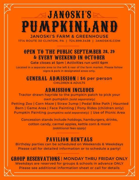 janoskis pumpkinland
