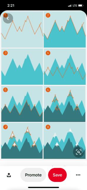 Pinterest Mountain Wall Painting Screenshot