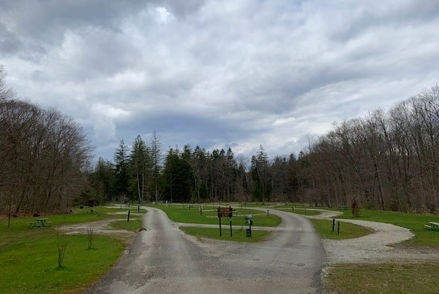 kooser state park campground empty