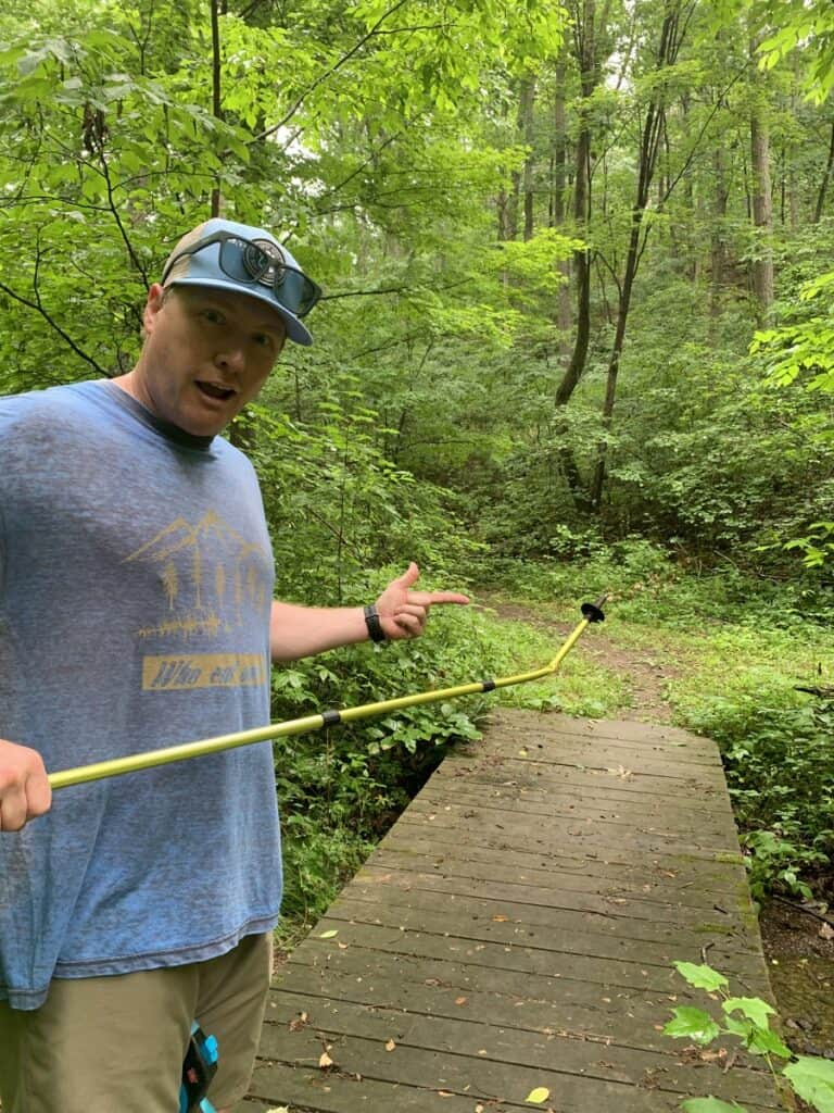 little buffalo state park hiking pole incident
