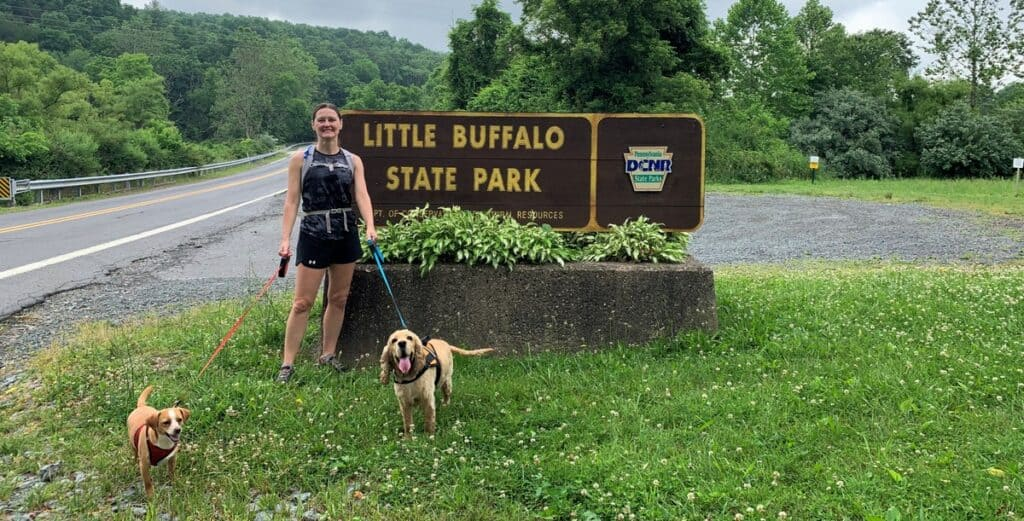 little buffalo state park welcome sign
