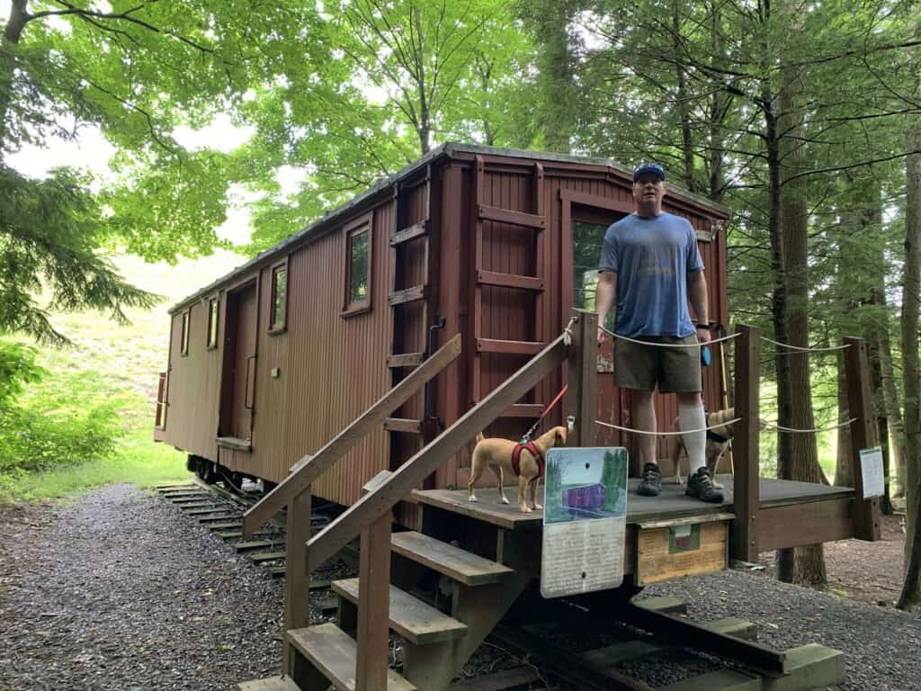 caboose at little buffalo state park