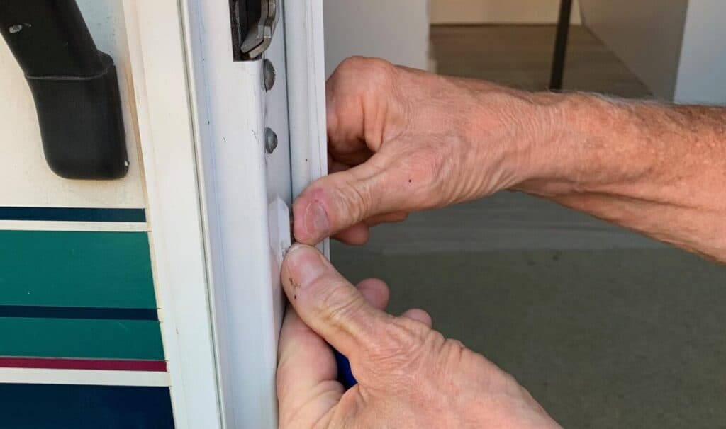 rv screen door fix hold