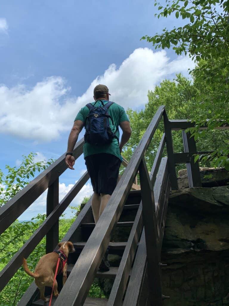 beartown rocks stairs to scenic overlook