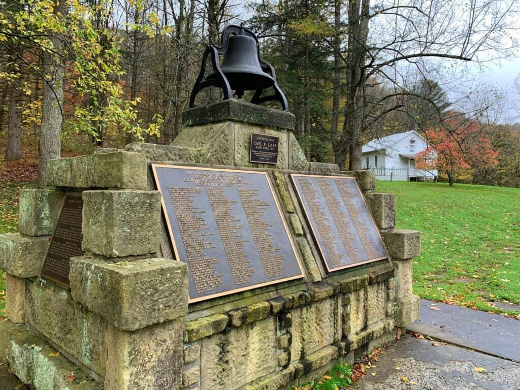 cedar creek state park wv teacher's memorial