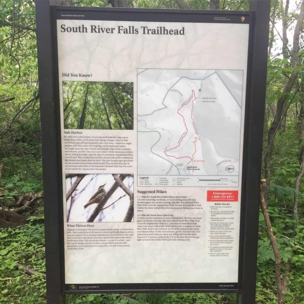 south river falls shenandoah national park