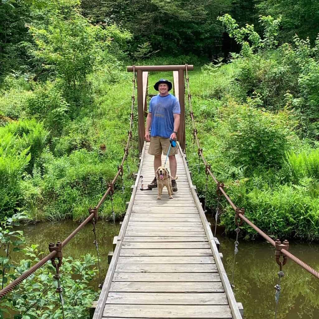 chapman state park swinging bridge with tails