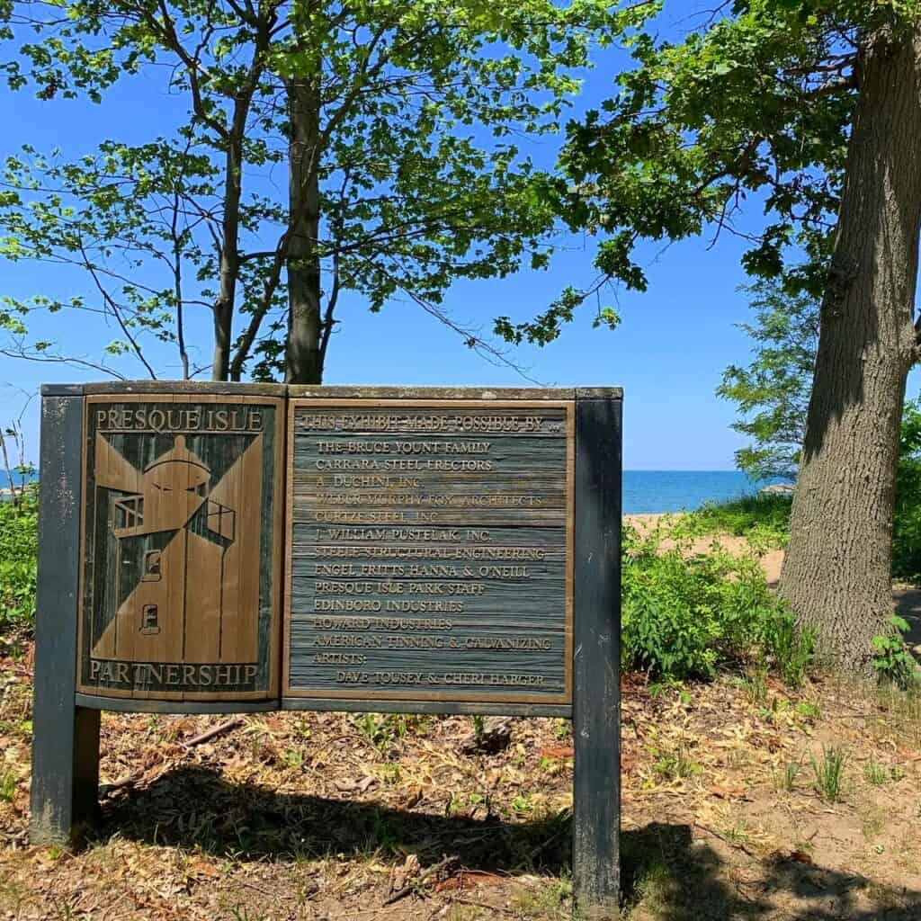 presque isle state park signage