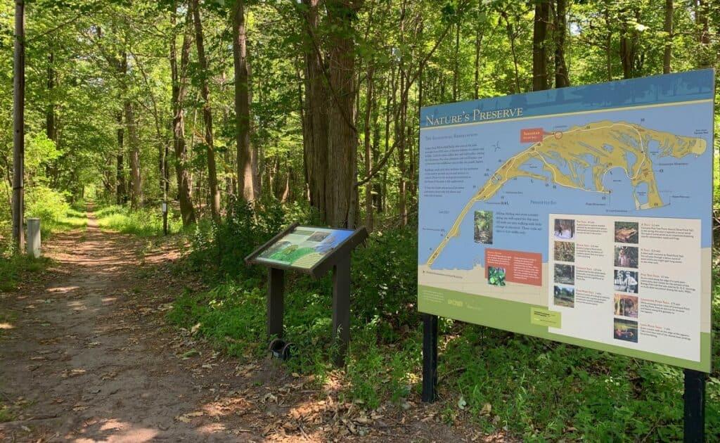 presque isle state park trail map