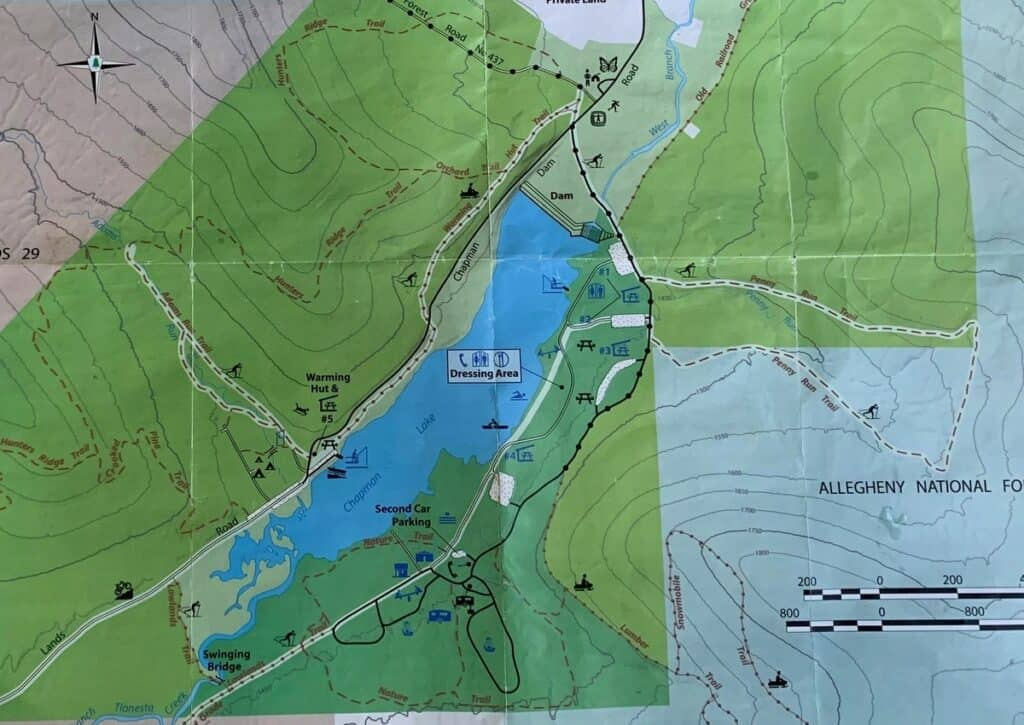 closer up chapman state park trail map